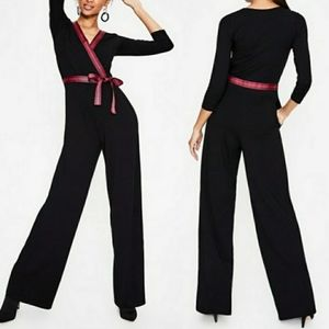 Boden Ribbon Jumpsuit 3/4 Sleeve with Pockets